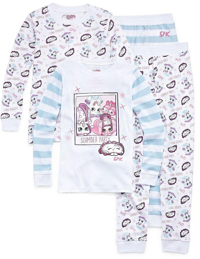 SHOPKINS Shopkins 4-pc. Shopkins Pant Pajama Set Girls