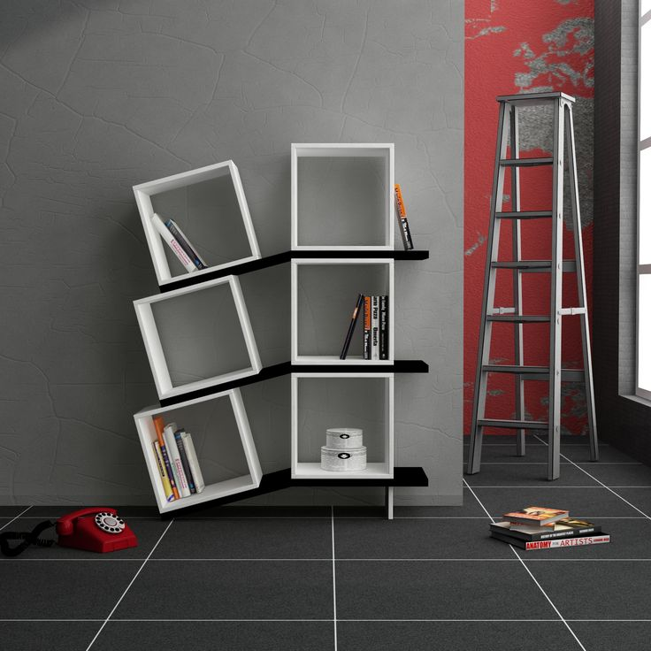 Decortie Balance Bookcase White-Black
