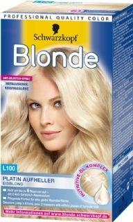 Schwarzkopf Blonde Ijsblond licht je haar tot wel 6 tinten op. Je krijgt een schitterend blonde tint met metallic glans!  Het haarmasker versterkt het haar na het blonderen en geeft een (anti-geel) stralende glans.
