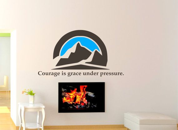 Wall Decal Quotes Courage Is Grace Under Pressure Wall by LaLuShop