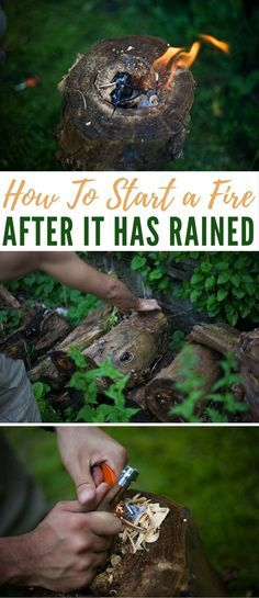 How To Start a Fire After It Has Rained - While it may seem very difficult to get a fire started after it's rained, if you don't live in an incredibly humid place, learning the skill of getting a fire running while conditions are still pretty wet is actually not too bad.