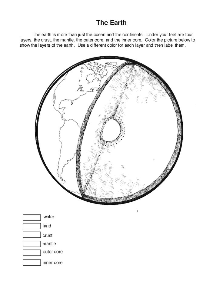 earth layers coloring sheet montessori geography pinterest coloring sheets the o 39 jays and. Black Bedroom Furniture Sets. Home Design Ideas