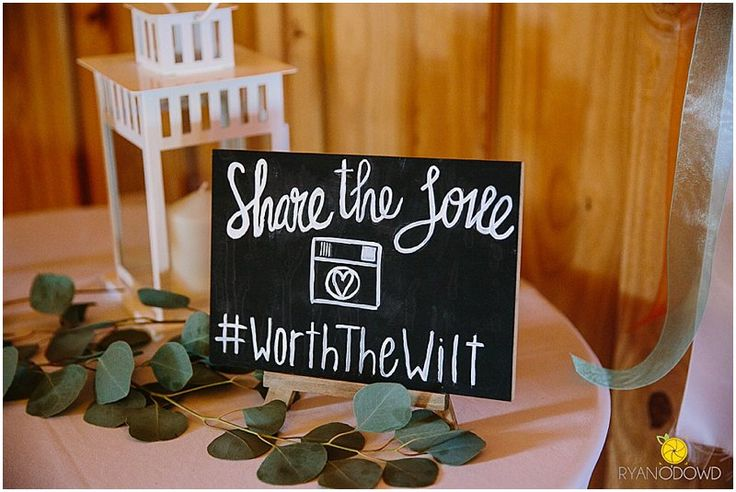 "Loving this Instagram hashtag wedding sign!  ""Share the love.""  And also love their hashtag!  #worththewilt. Taken at THE SPRINGS in McKinney, Stone Hall.  Book your free tour today! #weddingsigns #weddingsign #weddinghashtag #weddinghashtagsign #weddinginstagramsign"