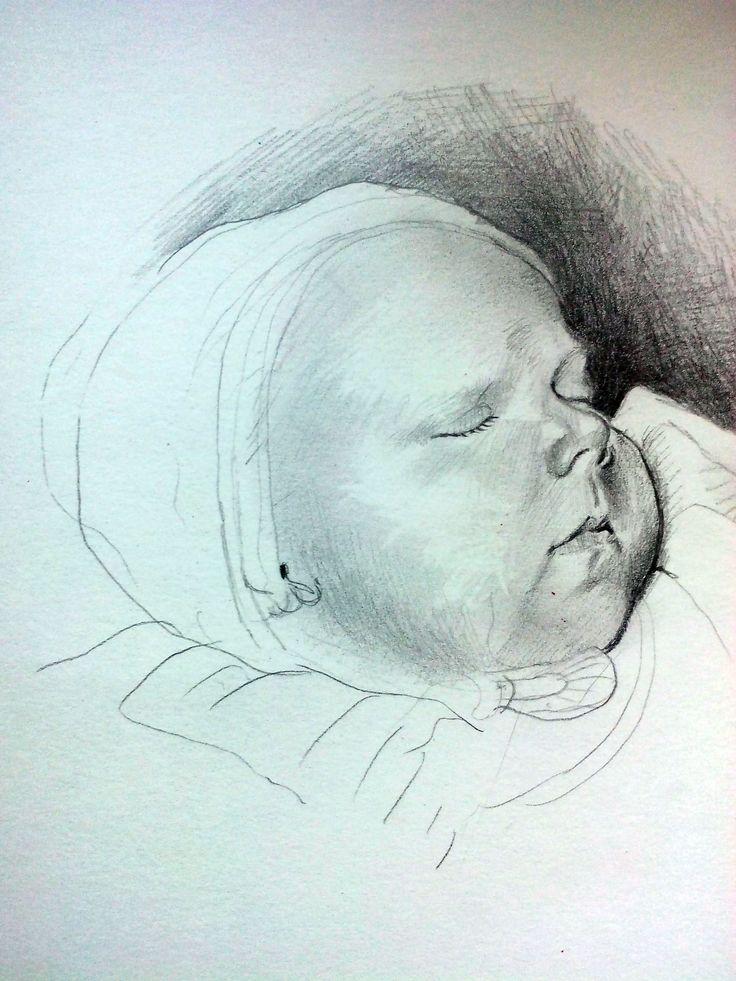 Pencil portrait. Author Kamila Guzal-Pośrednik