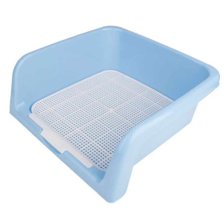 Xinlink New Indoor Plastic Fence Pet Dog Puppy Potty Toilet Pee Training Tray Pad Size M Blue -- Click image to review more details.