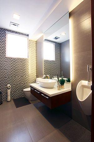 Roca Bathroom Fixtures : Powder room with high-end Roca bathroom fixtures