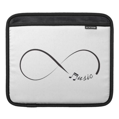 Infinity music symbol sleeve for iPads