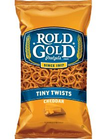 ROLD GOLD® Cheddar Tiny Twists Pretzels. My go to healthy snack.