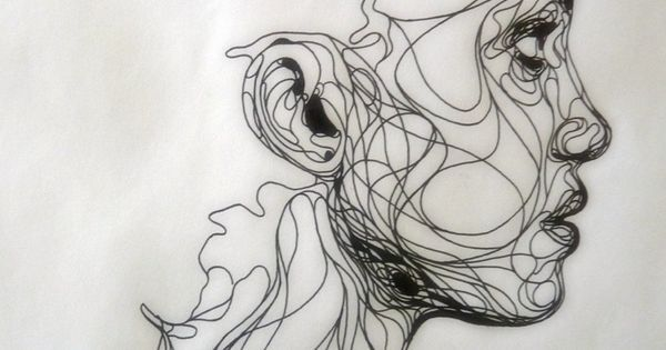 I love continuous line drawings! | Ink drawing by Kris Trappeniers