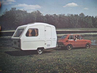 Predom n126, Polski Fiat 126.  Vintage caravan