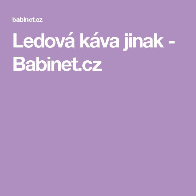 Ledová káva jinak - Babinet.cz