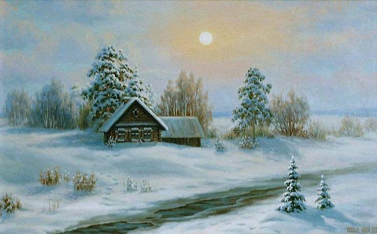 Зимняя деревня картинки нарисованные, приколы