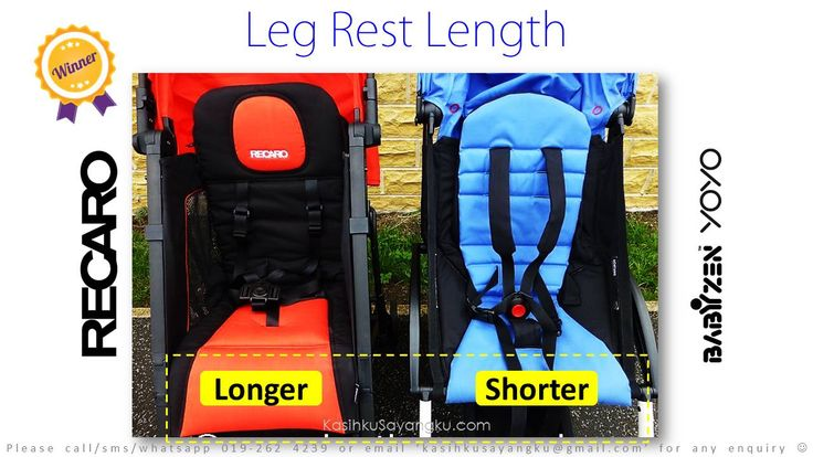 Longer leg rest translate into better comfortability. Just like Economy seat and Business seat in the aeroplane.