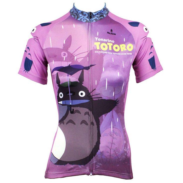 Women Cycling Jersey Classic Anime My Neighbor Totoro Women Cycling Clothing Bike Sportwear Bicycle Short Sleeve Cycling Jersey  #Affiliate