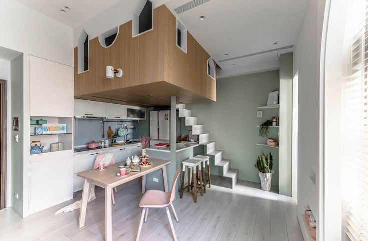 """Loft- These three pastel homes positively sing with prettiness; """"I feel pretty, Oh, so pretty, I feel pretty and witty and bright!""""... Well, not literally obvious"""