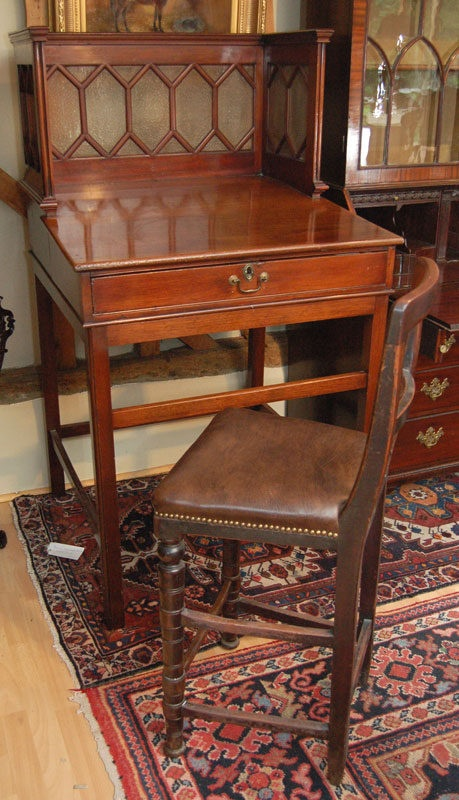 Rare Antique Clerks Desk And Tall Chair   Spotted By Antiquedesks.net At  Auction Recently