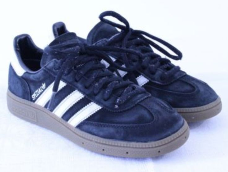 FOR SALE: C77 Vtg Adidas Spezial 80s Men Black White Trainer Sneaker Size US5 UK4 EU37 1/3