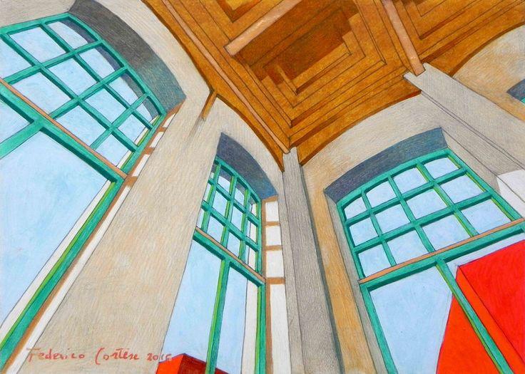 """Decorazioni da parete - """"Stanza abbandonata VI"""". Dipinto ad olio. - un prodotto unico di federico-cortese su DaWanda"""