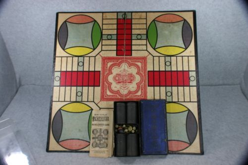 Vintage-3rd-Edition-1918-Parcheesi-Board-Game-Selchow-Righter-Co-Publishing