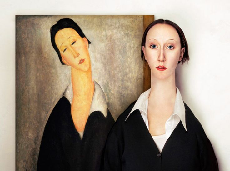 Hungarian artist Flóra Borsi conceptualized the real-life models of classic paintings by digitally manipulating the compositions.