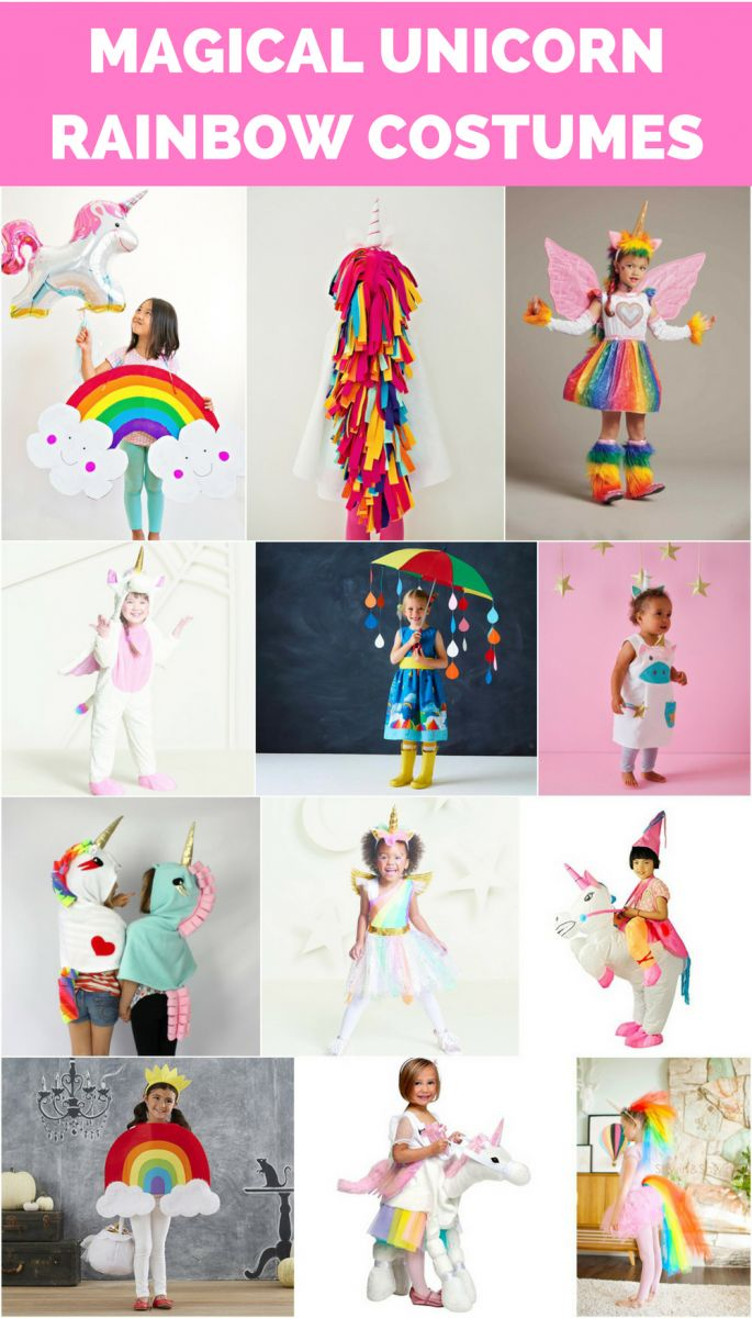 The best magical unicorn rainbow costumes for kids.