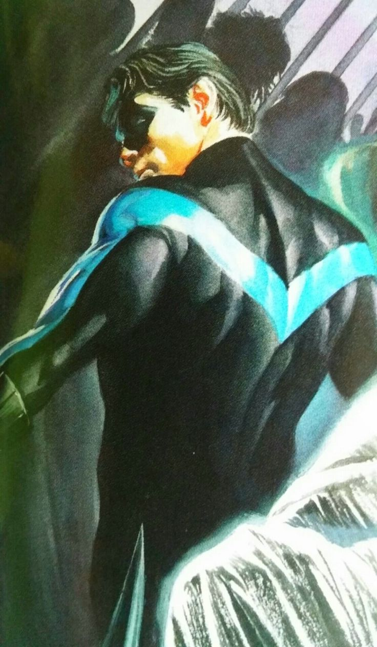 """yellowcape: """"- Batman RIP This is one of the sexiest images of Dick that I can think of. Thank you, Alex Ross, for drawing this. """""""