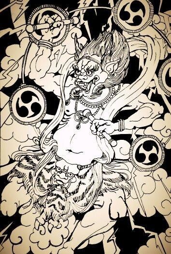 Raijin, thunder demon