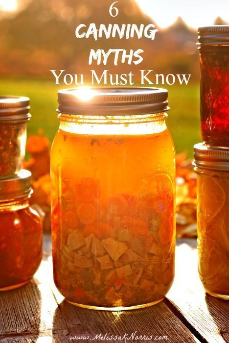 6 Canning Myths You Must Know
