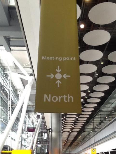 Heathrow Terminal 4 meeting place north