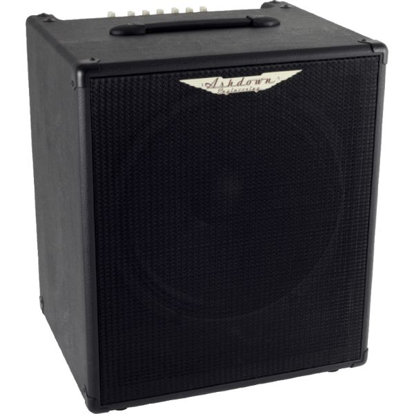 "Ashdown AAA - Five 15, 125w 1 x 15"" Combo, 2015 malli. The Five 15 Designed as a rock solid affordable combo for practice and rehearsals, the Five 15 (named in reference to our great departed friend John Entwistle) combines a punchy 125W power section with a single 15"" Ashdown speaker to deliver a great compact practice amp."