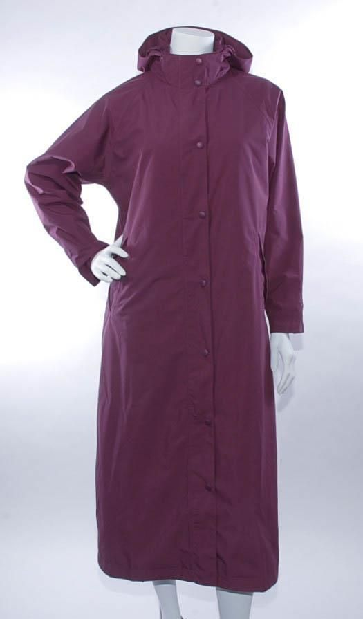 ~L.L. BEAN~ Full Length Raincoat/Trench Coat, Removable Liner, Plum Purple, M #LLBean #Raincoat