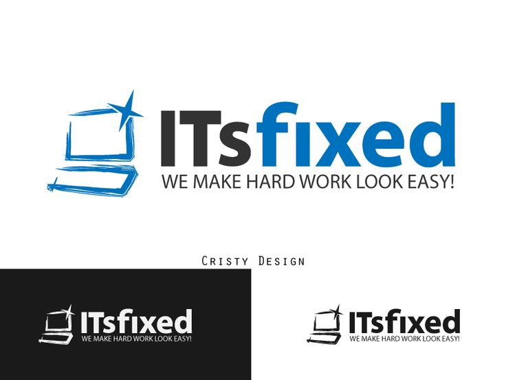 Company logo design - We-come-to-you computer fixes and installs by Cristy94