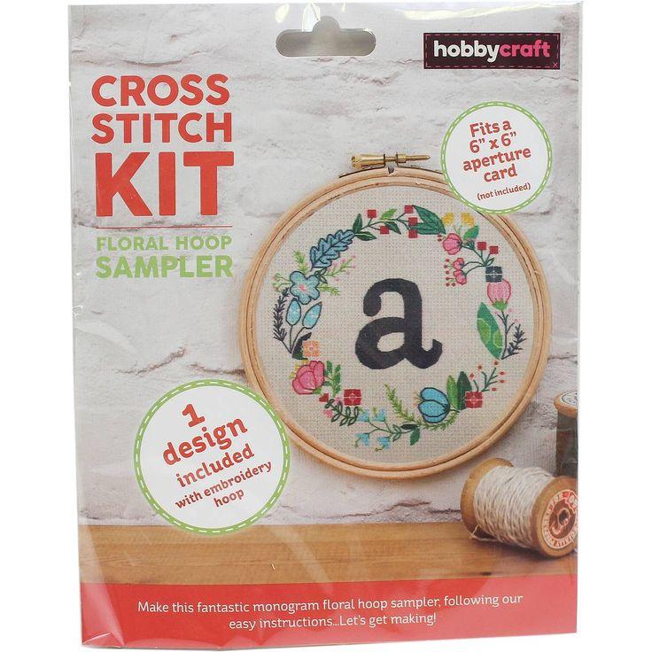 Monogram Cross Stitch Hoop Kit | Hobbycraft