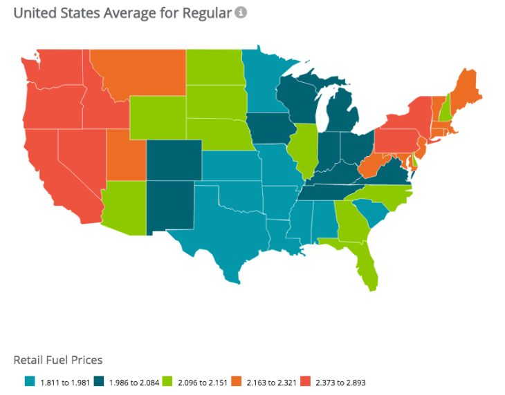 Best Maps Images On Pinterest Maps Geography And Infographics - Gas prices us map