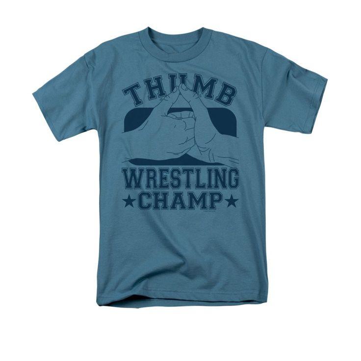 Thumb Wrestling Champ Adult Regular Fit T-Shirt
