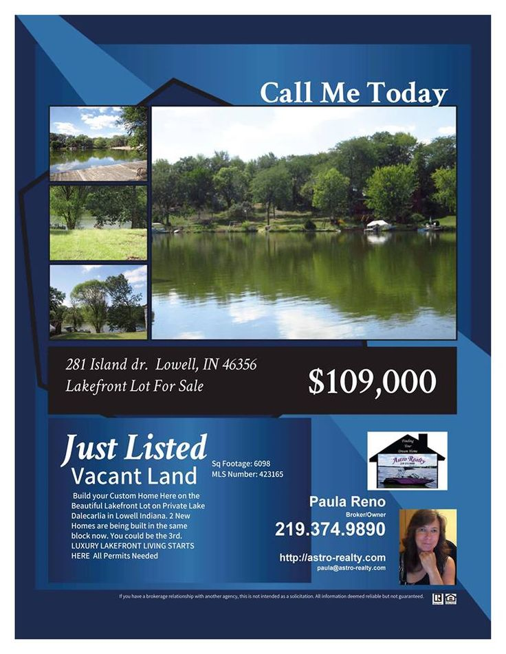 Call today about this Lakefront Land ready for you to build your Dream home. 219 374 9890  Brought to by Astro Realty of Cedar Lake Indiana Call or TXT  219.688.3443 http://astro-realty.com #cedarlakeindianarealty #cedarlakeindianarealestate