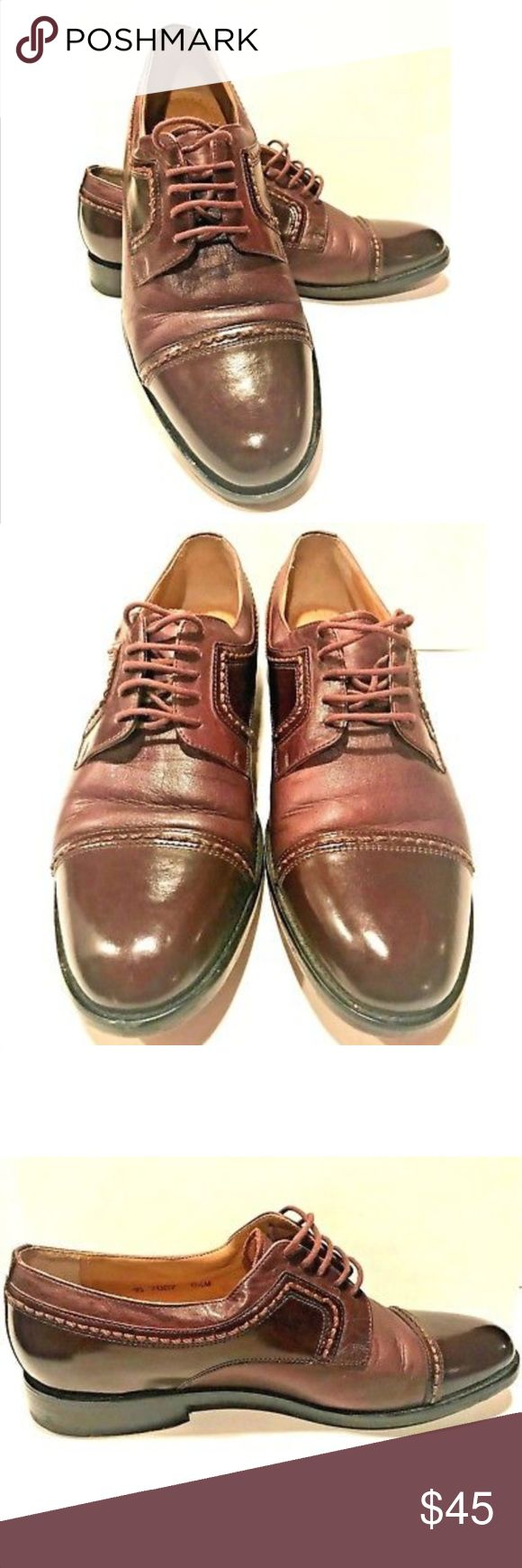 Johnston & Murphy Pantera Lace-Up CapToe Men Shoes Johnston & Murphy Pantera Lace-Up Cap Toe Men Shoes   Color: Plum  Size: Men's 8.5 M  Fabric: Leather  Made: Brazil  *Please Note* These shoes were pre-owned. On the last two pictures shows slight scuffing on the toe of the shoe and the tongue; as well as, a little bit of thread missing on the tongue. Other pictures show slight bending of the leather at the opening of the shoe. The shoe, itself, is still in good condition. Johnston & Murphy…