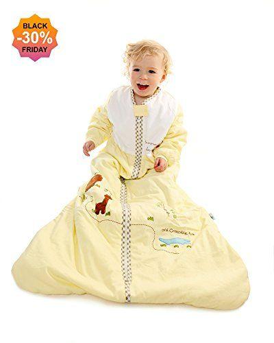 Slumbersac Baby Long Sleeve Sleeping Bag (6 - 18 Months, 2.5 Tog, Sunshine Zoo)