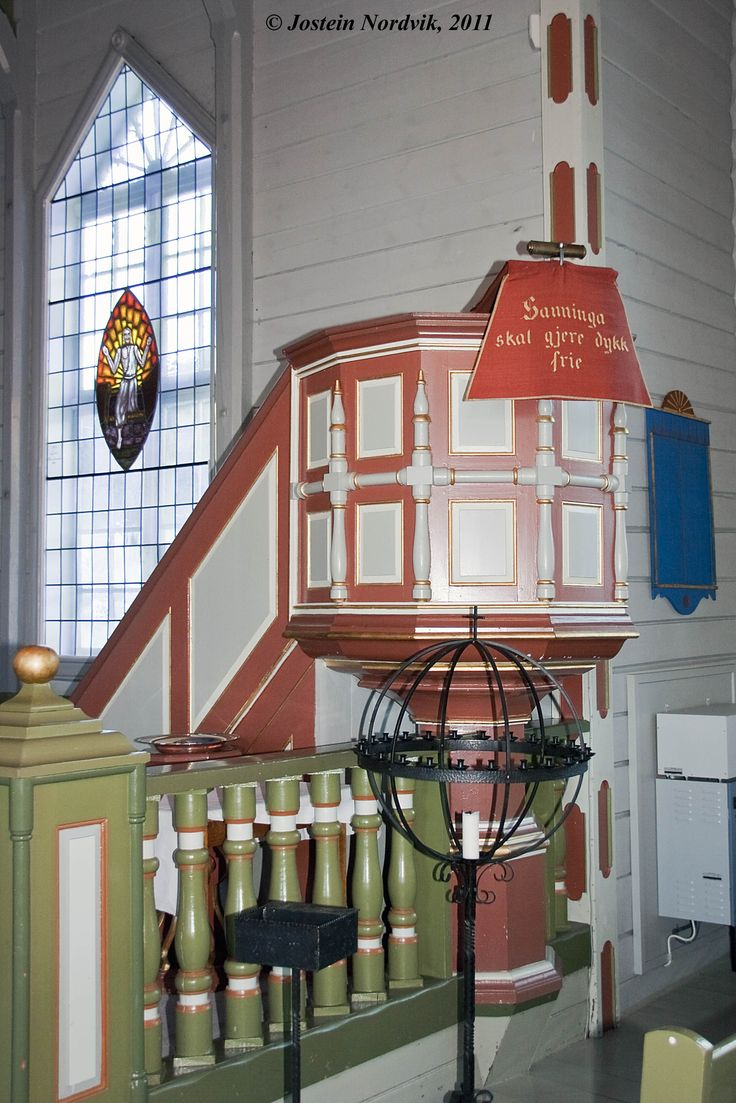 The pulpit, made 1871.