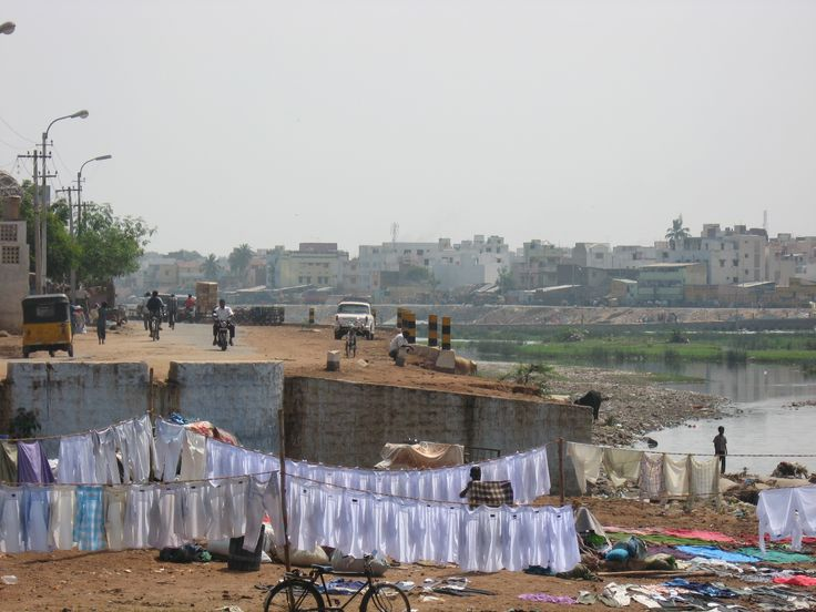 Laundry day, Madurai, Tamil Nadu