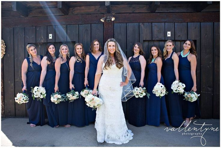 The ladies! I love big wedding parties! It is so much fun and everyone looks so beautiful! Love this shot with all the bridesmaids and the gorgeous sunlight streaming in!