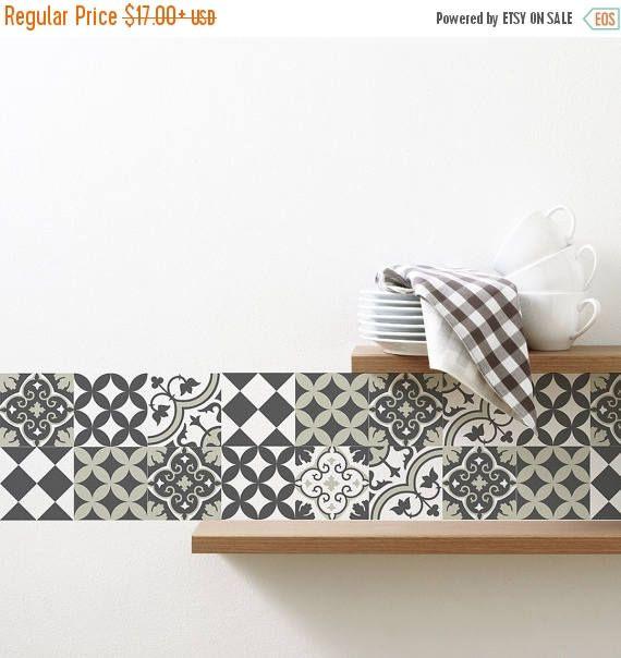 Vente maintenant mélange tuile Stickers cuisine/salle de bain
