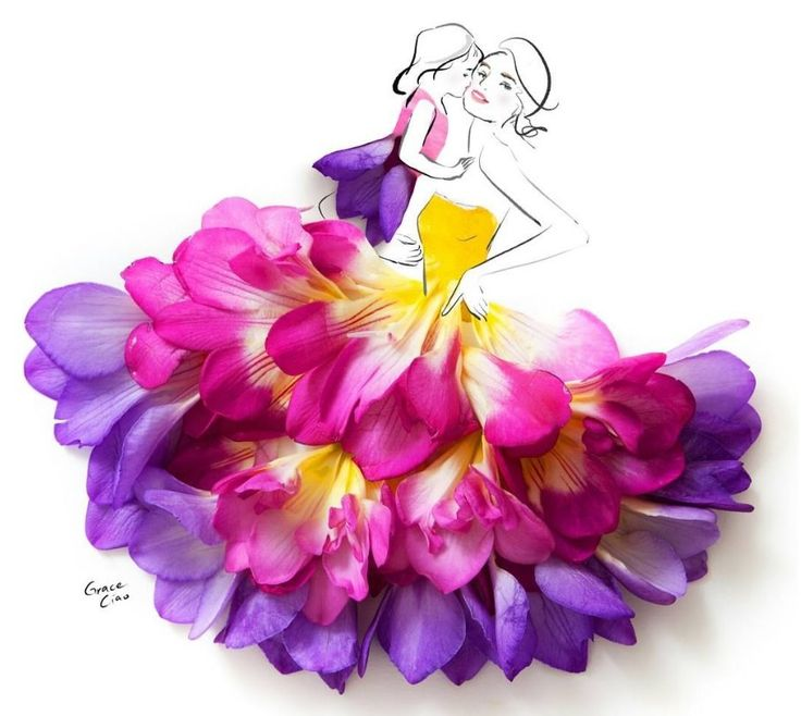 çiçek illüstrasyon