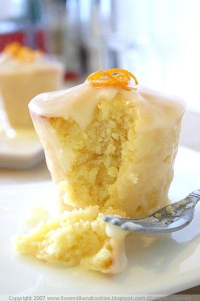 Orange blossom cupcake