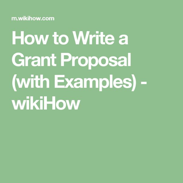 Write A Grant Proposal  Grant Proposal And Proposals