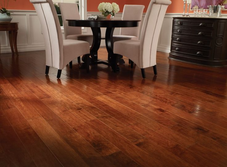 The Beautiful Color Of This Dark Auburn Maple Engineered Hardwood Is In Line With Today S Mo Maple Hardwood Floors Engineered Hardwood Flooring Hardwood Floors