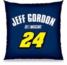 Jeff Gordon NASCAR Merchandise   Jeff Gordon NASCAR 18x18 Toss Pillow