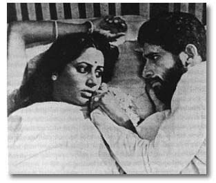 Smita Patil and Naseeruddin Shah