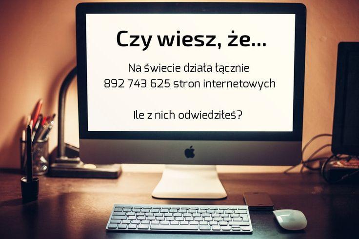 Czy wiesz, że... Na świecie działa łącznie 892 743 625 stron Internetowych. Ile z nich odwiedziłeś?