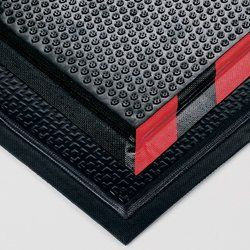 ANDERSEN Happy Feet Heavy-Duty Nitrile Rubber Mats - Black/orange border by Andersen. $155.00. ANDERSEN Happy Feet Heavy-Duty Nitrile Rubber Mats offer excellent static dissipative properties. Weldsafe. Texture Surface is for dry or damp work areas. Grip Surface provides superior traction and scraping action in wet work areas. Natural rubber cushion encapsulated within Nitrile rubber. Beveled safety borders on all sides. NFSI certified to be slip resistant. NOT...